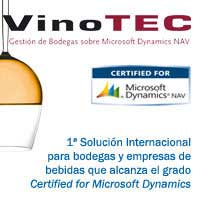 Tecnovino Vinotec Tipsa Microsoft ERP bodegas