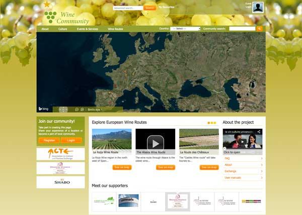 Tecnovino plataforma rutas del vino de Europa