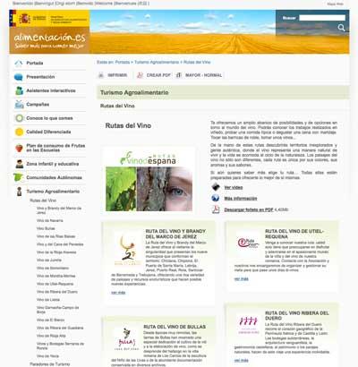 Magrama recoge tres nuevas rutas del vino rioja alta for Pagina web del ministerio
