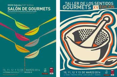 Tecnovino Salon de Gourmets carteles 2014