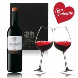 Tecnovino estuche de vino San Valentin Bodegas Ontanon