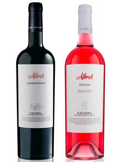 Tecnovino Albret Chardonnay y Albret Rosado