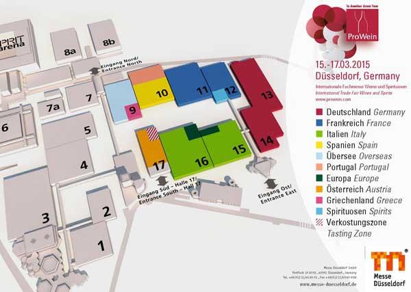 Tecnovino Prowein 2015 pabellones