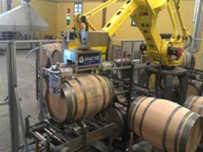 Tecnovino La Rioja Alta robot lava barricas