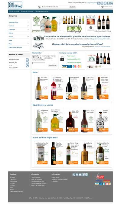 Tecnovino Bflow venta online de alimentacion y bebidas