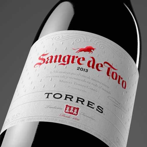 Tecnovino Sangre de Toro 2013 Bodegas Torres etiqueta