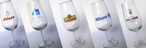 Tecnovino serigrafia en vidrio Vitriglass copas