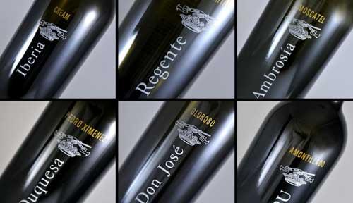 Tecnovino serigrafia en vidrio Vitriglass vinos generosos