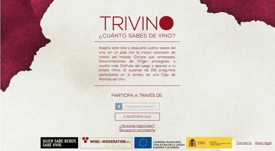 Tecnovino juego online sobre vino Trivino