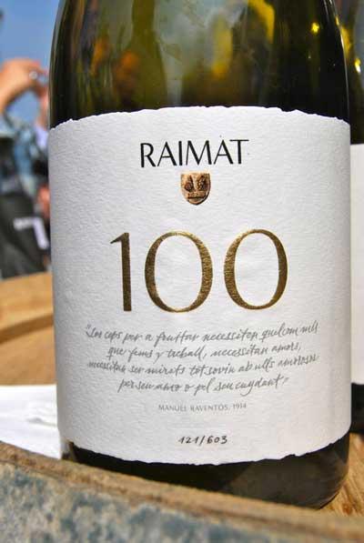 Tecnovino 100 anos de Raimat botella