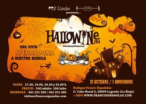 Tecnovino Halloween vino Bodegas Franco Espanolas