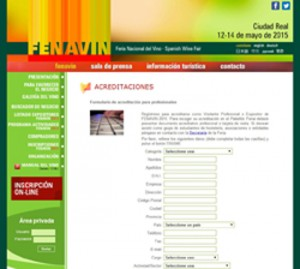 Tecnovino acreditación online Fenavin