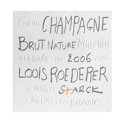 Tecnovino Louis Roederer Brut Nature 2006 by Philippe Starck 2
