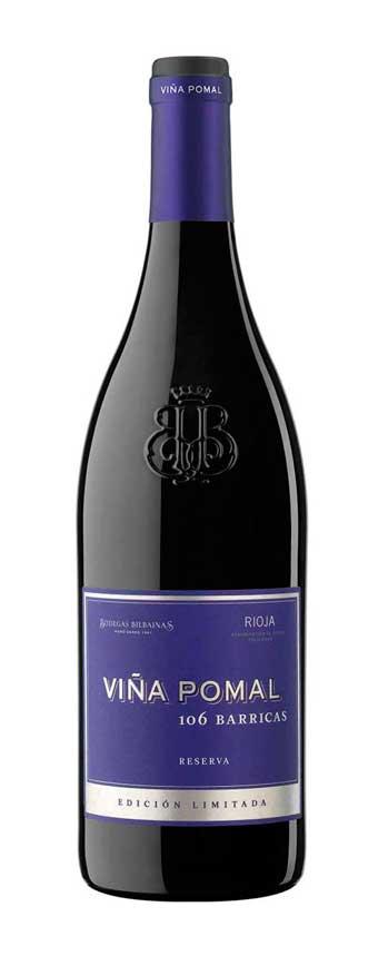 Tecnovino vina pomal reserva 106 barricas Bodegas Bilbainas