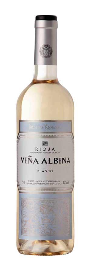 Tecnovino Vina Albina Blanco Cosecha 2014 Bodegas Riojanas