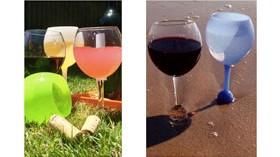 Una forma elegante de tomar vino en exteriores