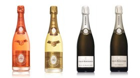 """Los """"tesoros"""" en forma de champagne de Louis Roederer"""