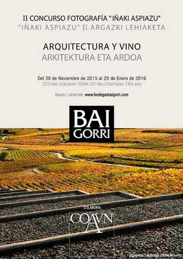 Tecnovino concurso fotografia arquitectura y vino Bodegas Baigorri