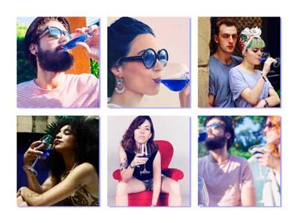 Tecnovino vino azul Gik consumo