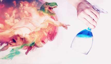 Tecnovino vino azul Gik dinosaurio