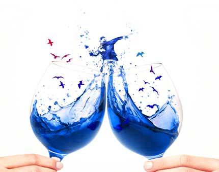 Tecnovino vino azul Gik revolucion