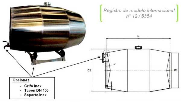 Tecnovino barrica inox GD Industries 2