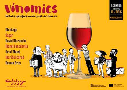 Tecnovino vino y comic DO Catalunya 1
