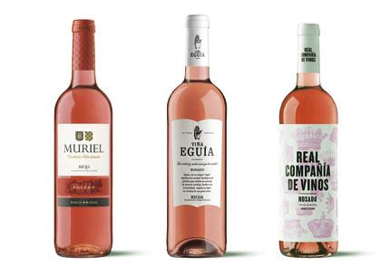 Tecnovino vinos de Muriel rosados