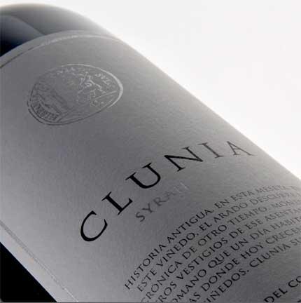 Tecnovino Clunia Syrah Bodegas Clunia etiqueta