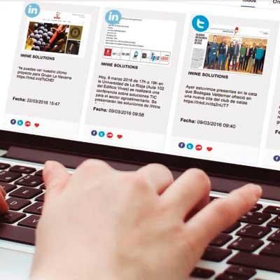 Tecnovino iWine Solutions apps sector vino Social Media