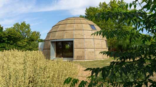 Tecnovino construccion para bodegas y en turismo Ecologic dome Chapeau Vert 2