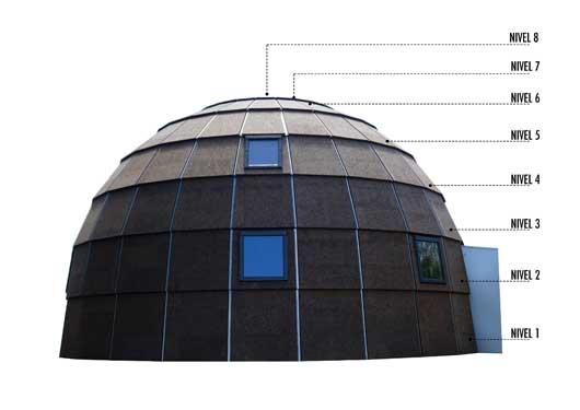 Tecnovino construccion para bodegas y en turismo Ecologic dome Chapeau Vert 4