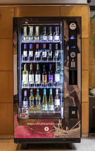 Tecnovino maquinas de vending vino Vinate Vending 1