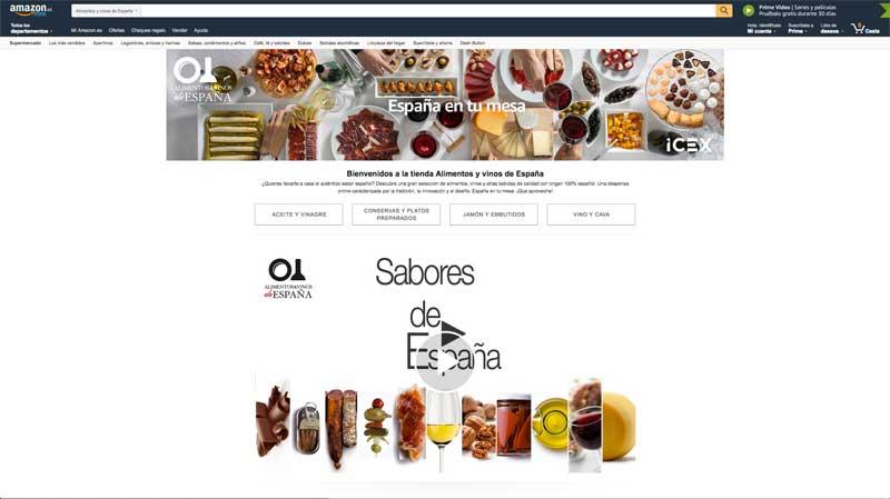 Tecnovino Alimentos y vinos de Espana Icex Amazon