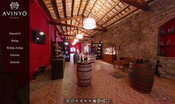 Tecnovino tour virtual bodegas Portalvista Avinyo