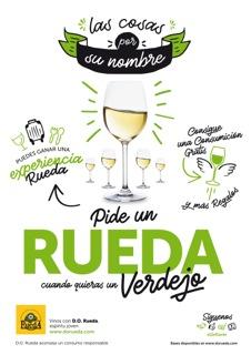 Tecnovino vinos de Rueda Cartel Pide un Rueda