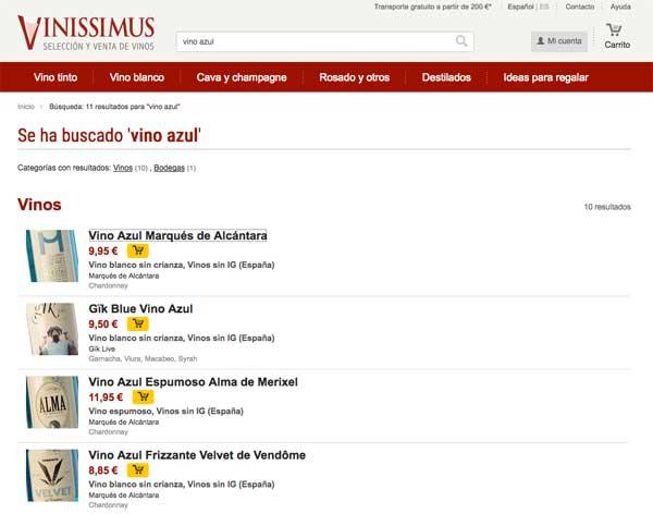 Tecnovino vinos de colores Vinissimus