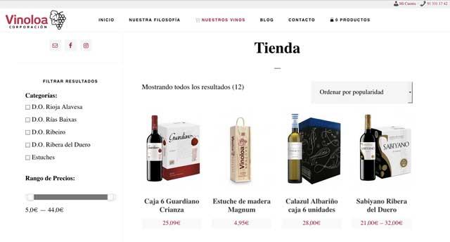Tecnovino Corporacion Vinoloa tienda online