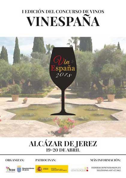 Tecnovino concurso de vinos Vinespana cartel