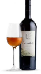 Tecnovino vinos de Jerez amontillado botella