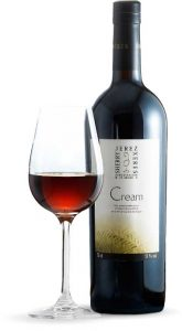 Tecnovino vinos de Jerez cream botella