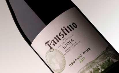 Tecnovino vino ecologico de Bodegas Faustino etiqueta 2