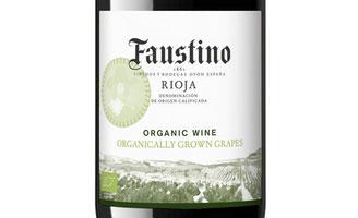 Tecnovino vino ecologico de Bodegas Faustino etiqueta