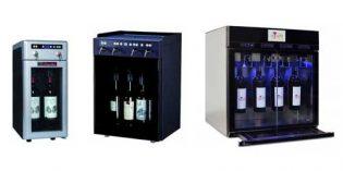 Tres prácticos dispensadores de vino por copas