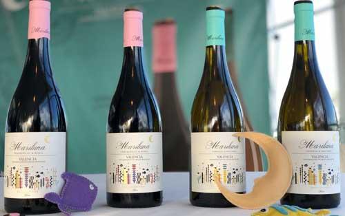 Tecnovino vinos Mariluna Blanco y Tinto Bodega Sierra Norte gama