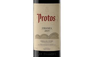Tecnovino etiqueta de Protos Crianza 2015 de Bodegas Protos