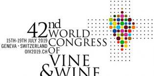 Ginebra acogerá el 42º Congreso Mundial de la Viña y el Vino