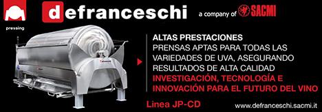 De Franceschi, una compañía de Sacmi: Prensa para todas las variedades de uva, asegurando resultados de alta calidad. Línea JD-CD.