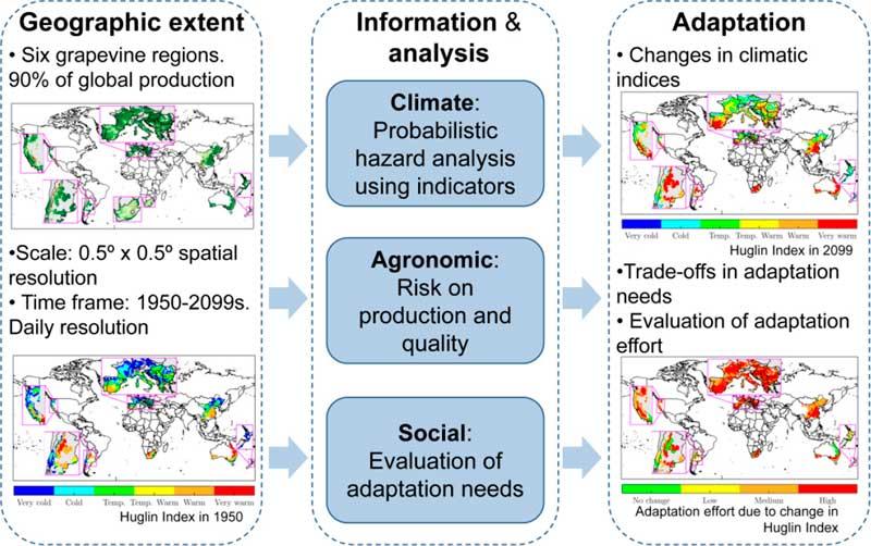 Tecnovino grafico produccion de vino y cambio climatico