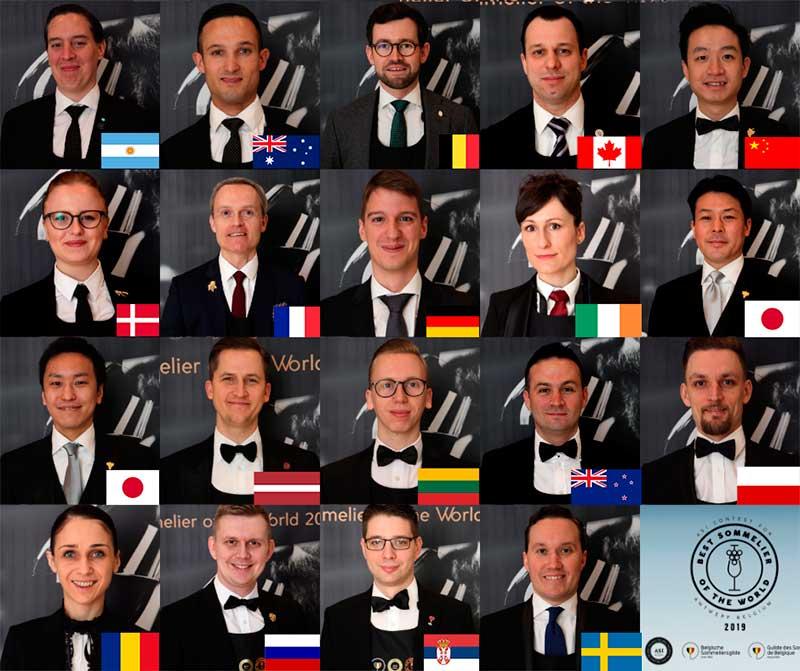 Tecnovino Mejor Sumiller del Mundo BSOW 2019 semifinalistas